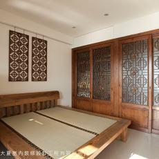 中式风格卧房效果图