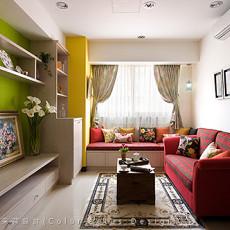 单人公寓客厅卧室装修效果图