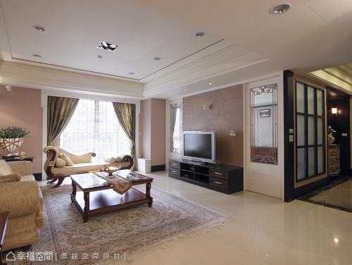 美式风格客厅窗帘