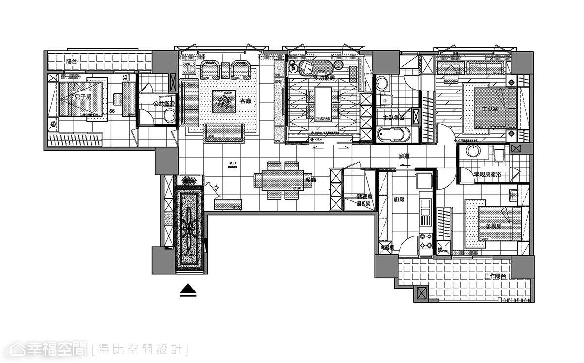 现代挑高客厅装修俯瞰图