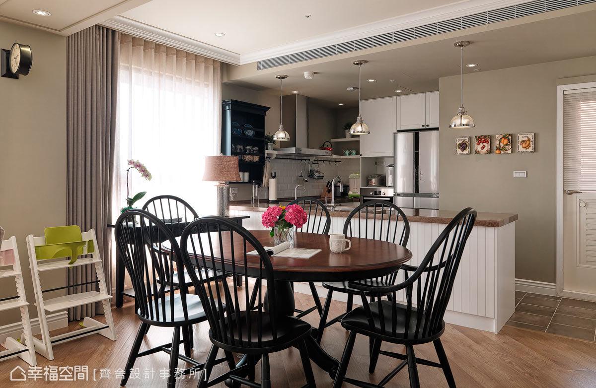 美式简约厨房室内设计装修效果图