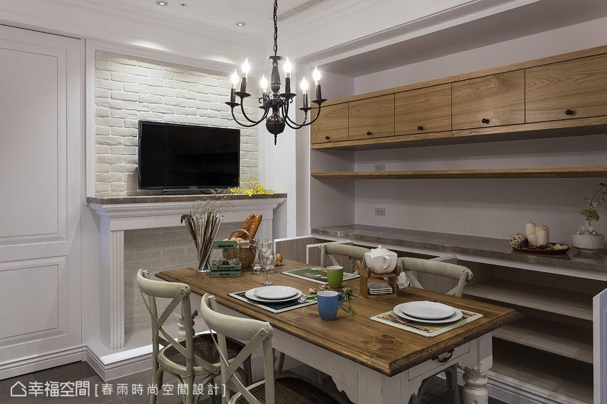 文艺美式客厅装潢案例