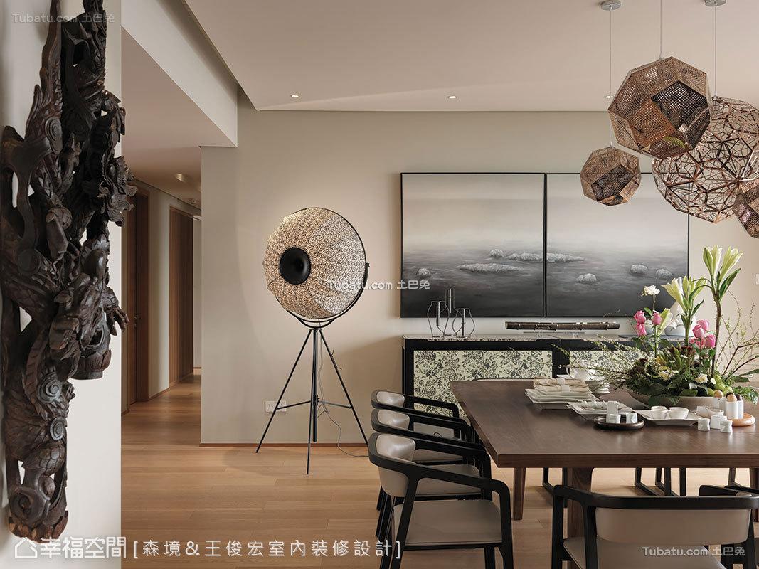 东方美学的中式餐厅效果图