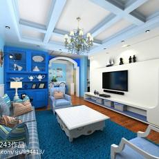 热门面积137平地中海四居客厅装修欣赏图