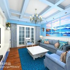 热门面积117平地中海四居客厅装修效果图