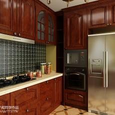 2018精选面积101平欧式三居厨房装修欣赏图片大全