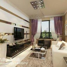 精选面积72平小户型客厅现代效果图