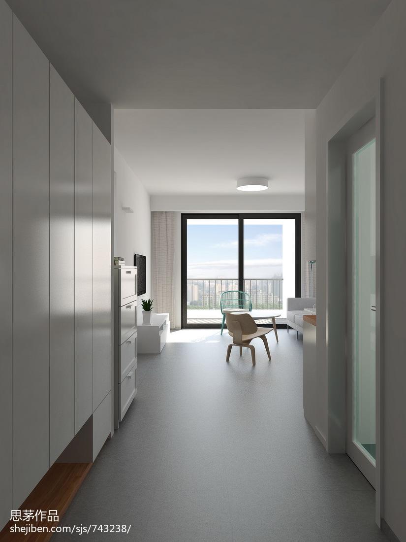 201877平米二居客厅现代装修效果图片