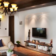 热门面积76平田园二居客厅装修图片欣赏