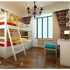 100平米三居儿童房美式欣赏图片