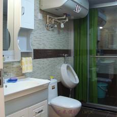现代三居卫生间装修设计效果图片大全