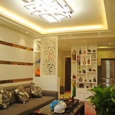 精选面积90平现代三居客厅装修实景图片
