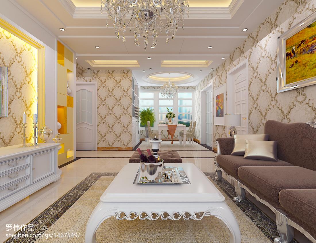 大小94平欧式三居客厅装修图片大全