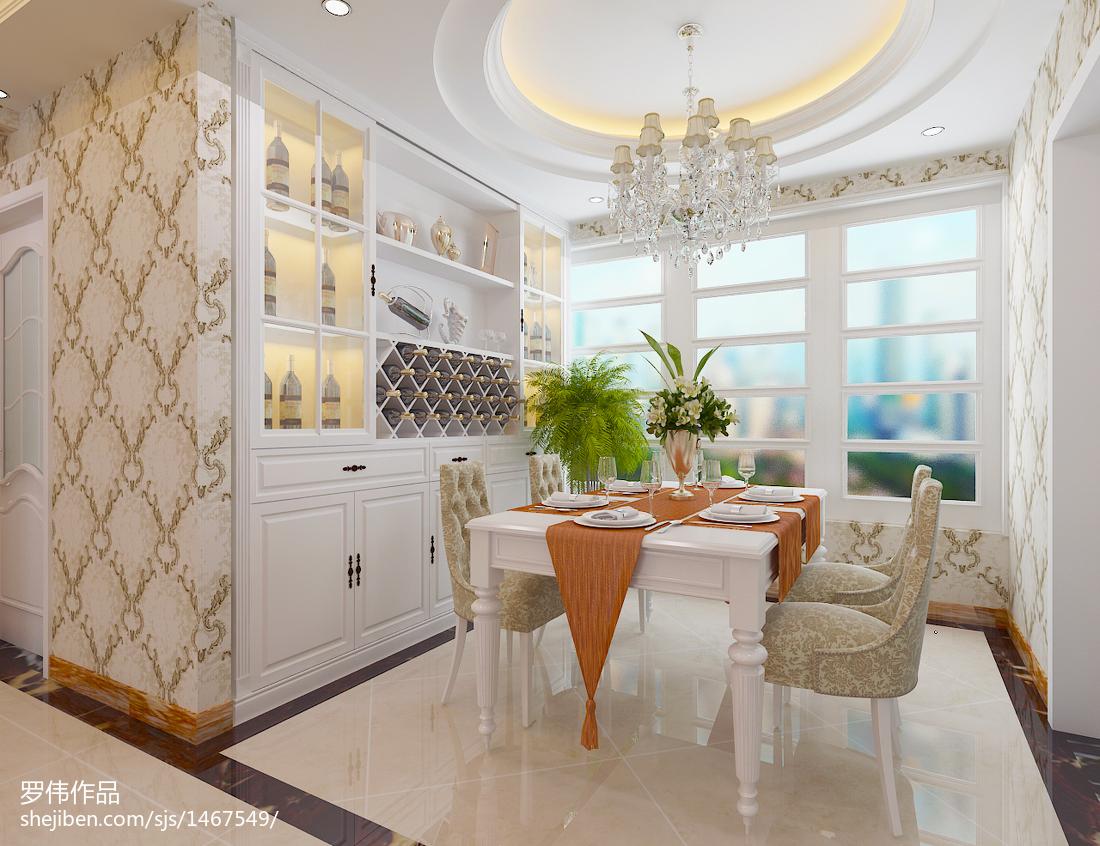 精美欧式三居餐厅装修效果图片大全