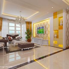 94平方三居客厅欧式实景图片欣赏