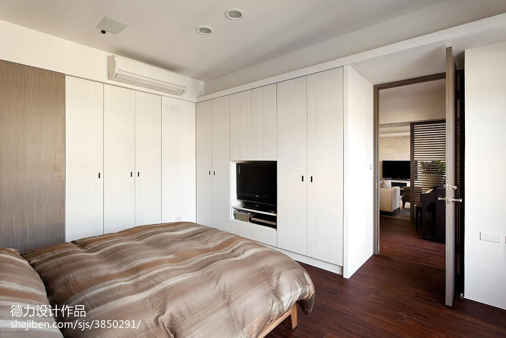 热门面积138平现代四居卧室欣赏图片