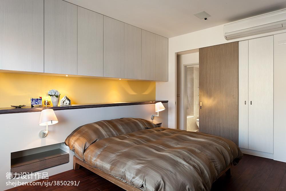 2018精选面积117平现代四居卧室装修设计效果图片欣赏