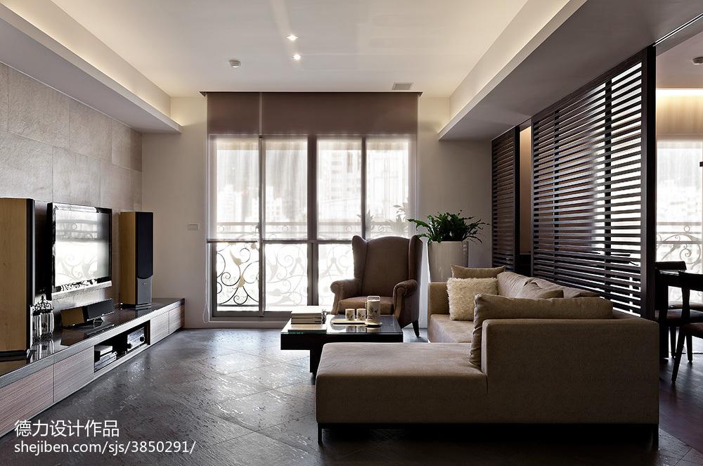 2018面积110平现代四居客厅装修效果图片大全