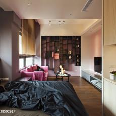 2018面积85平现代二居卧室效果图