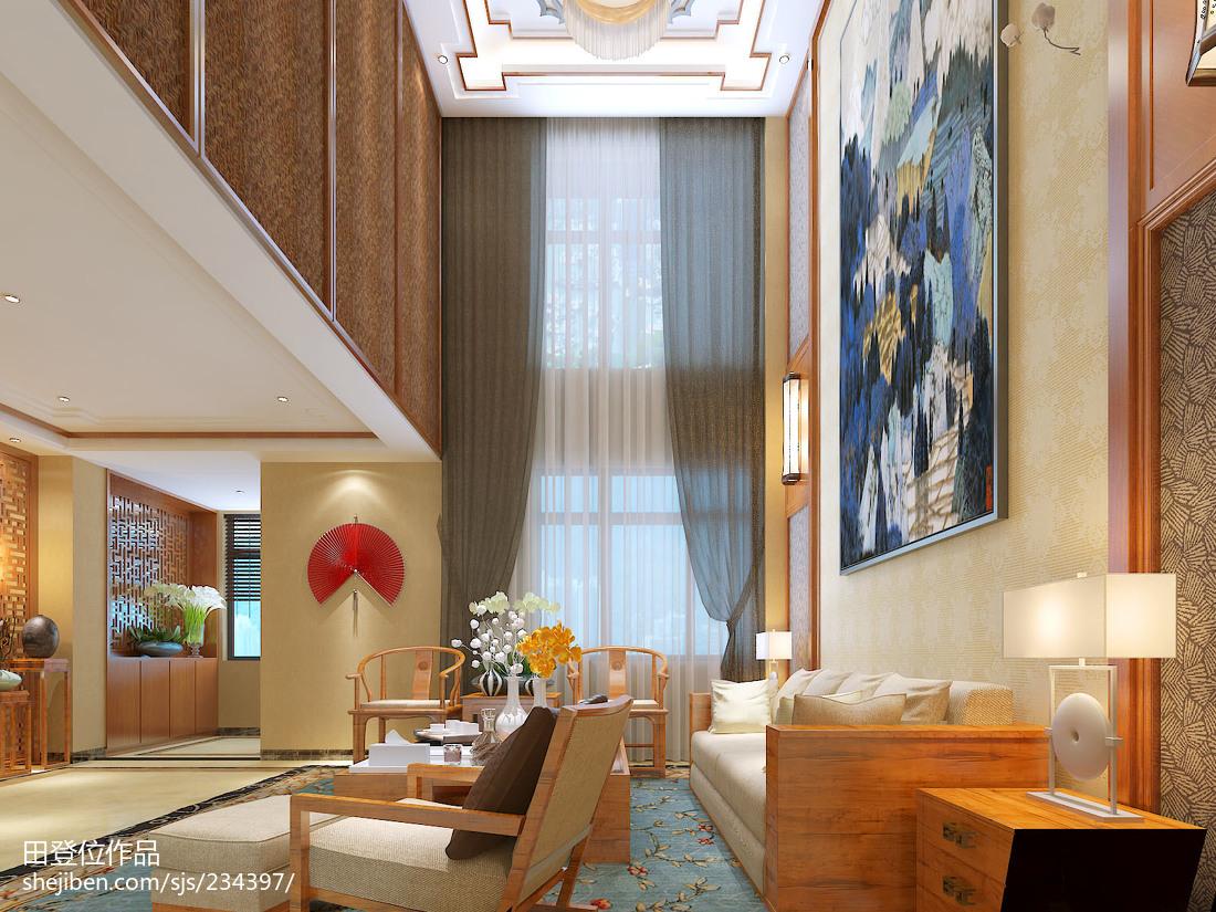 精美面积111平别墅客厅中式装修欣赏图片大全