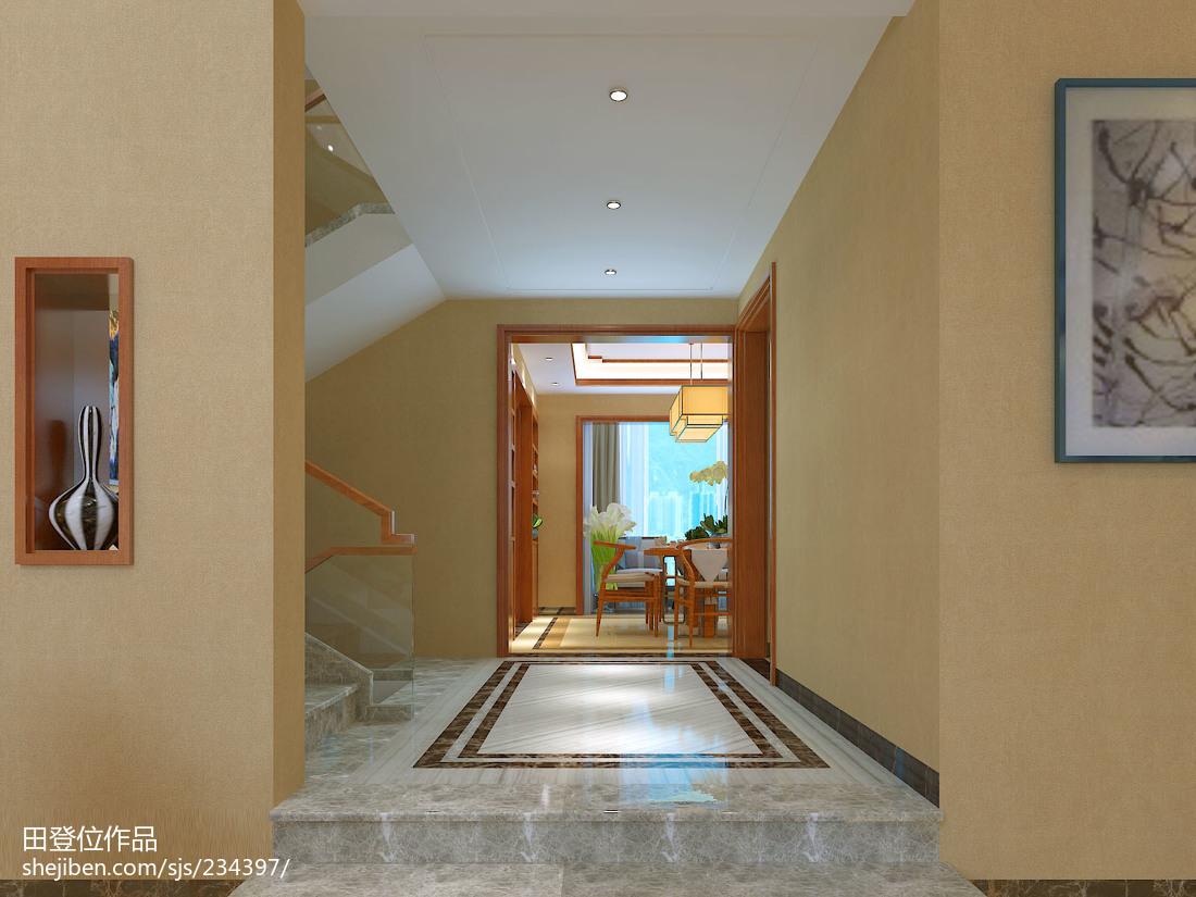 精美面积123平别墅过道中式效果图片
