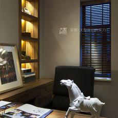 精选131平米中式复式书房装修效果图片