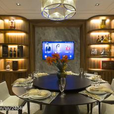 2018精选面积135平复式餐厅中式装修实景图