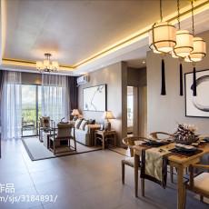 中式客厅吊顶样板房装修设计