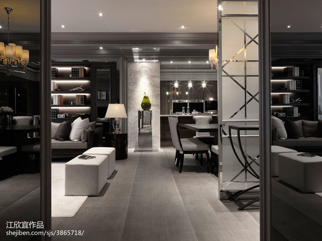 89.3平客厅现代装修欣赏图片