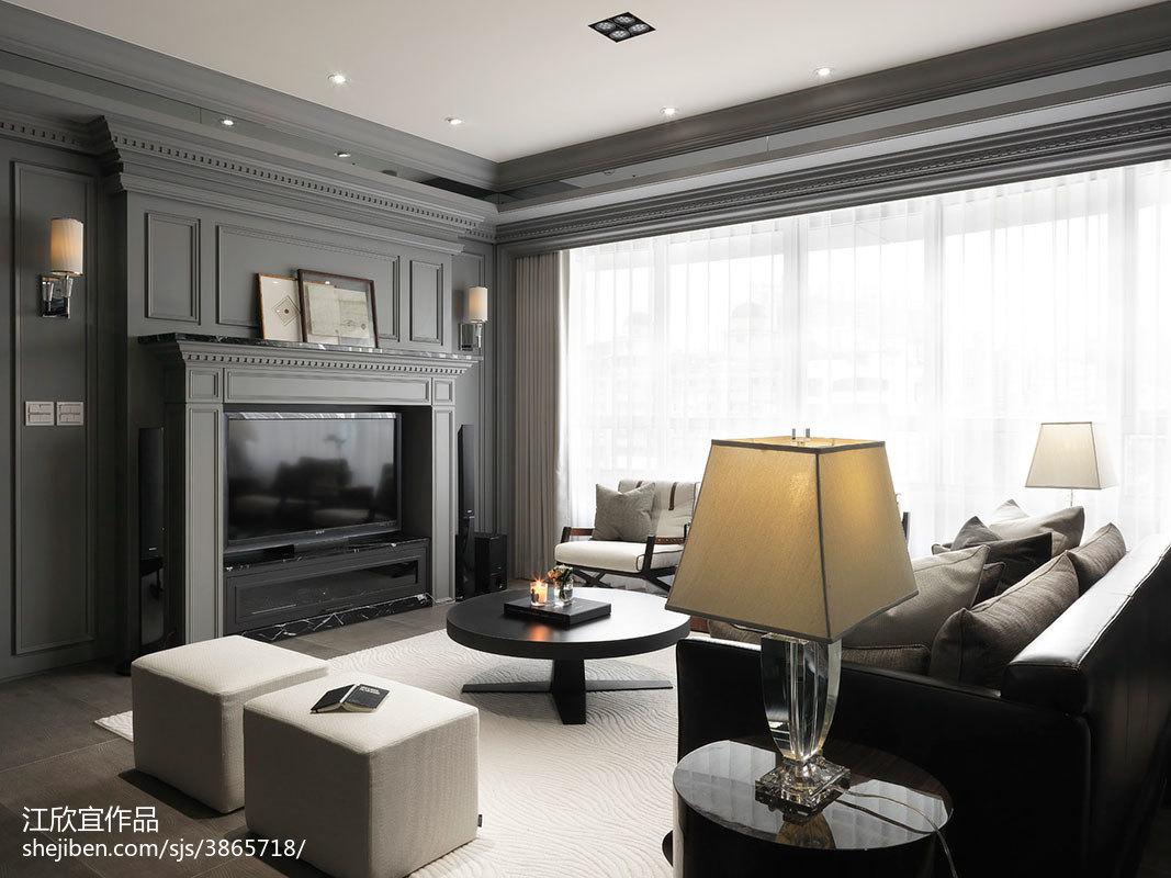 109.6平精美现代客厅效果图片