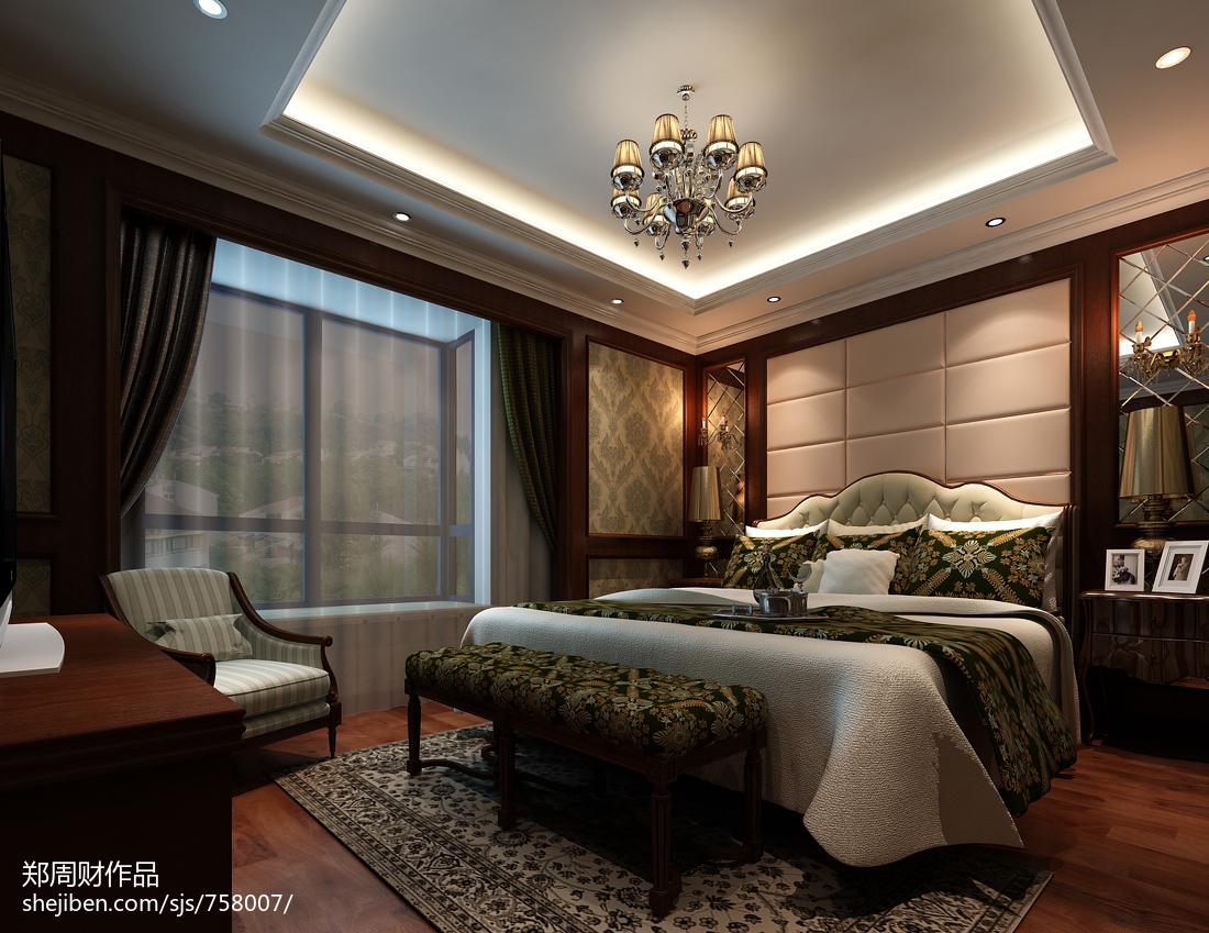 精美卧室美式装饰图