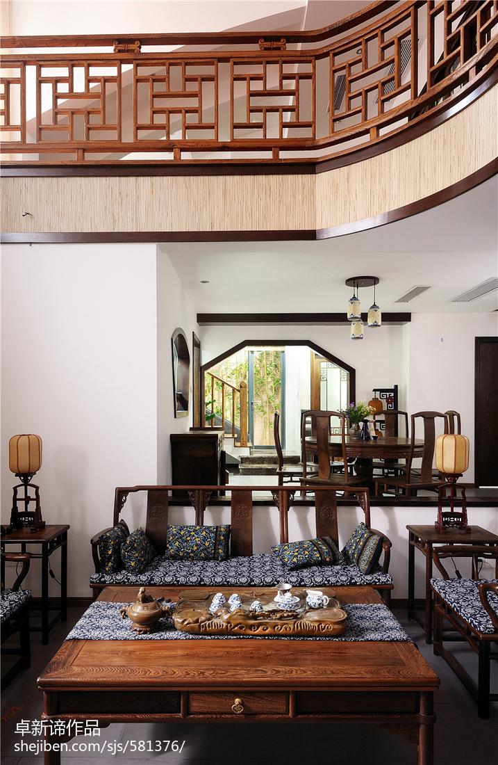 2018精选复式客厅中式装修设计效果图片大全