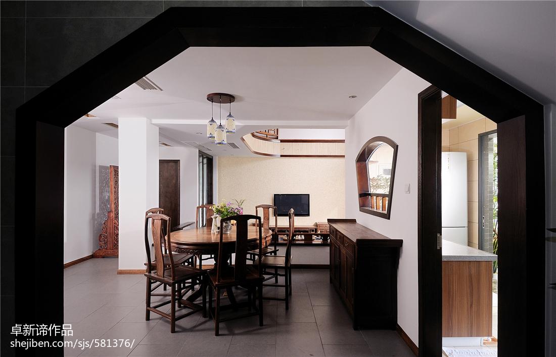 精美复式餐厅中式装修设计效果图片欣赏