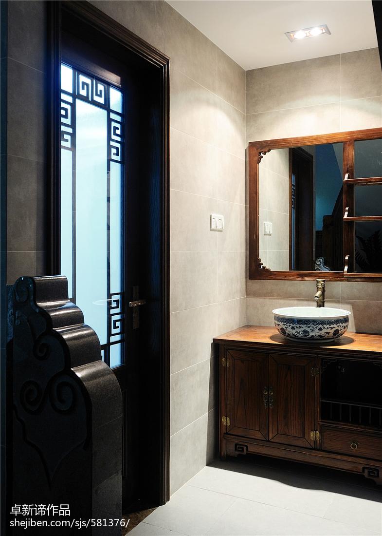 精美中式复式卫生间装修设计效果图片大全