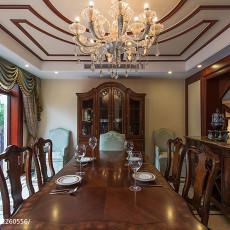精美144平米美式别墅客厅装修实景图