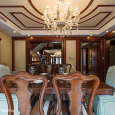 精选128平米美式别墅餐厅装修图