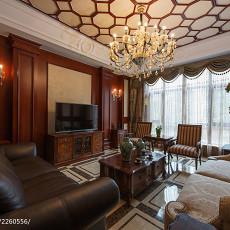 精选127平米美式别墅客厅实景图片