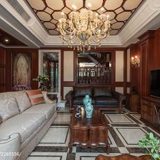 热门面积120平别墅客厅美式装饰图