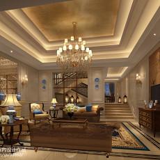 精美面积128平别墅客厅欧式设计效果图