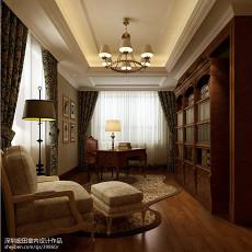 精美面积132平别墅书房欧式装修设计效果图
