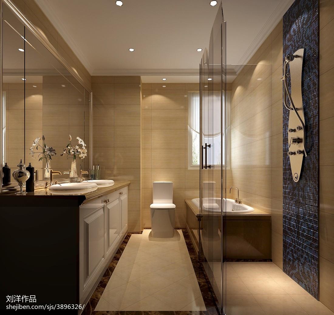 面积117平现代四居卫生间装饰图片