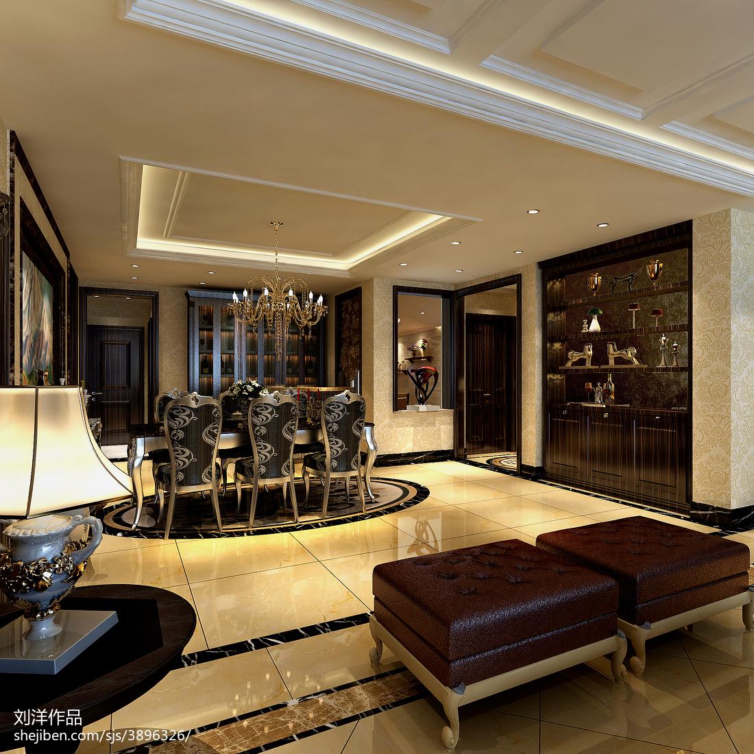 精选102平米三居餐厅欧式装饰图片