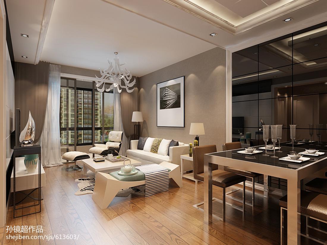 精选80平米现代小户型客厅效果图片