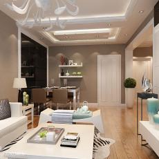 2018精选面积86平小户型客厅现代效果图片欣赏