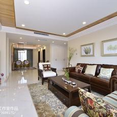 面积119平美式四居客厅装修图片欣赏