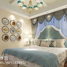 精美面积132平复式卧室地中海效果图片大全