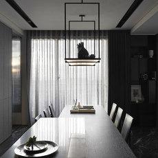 精选108平米三居餐厅现代装饰图片