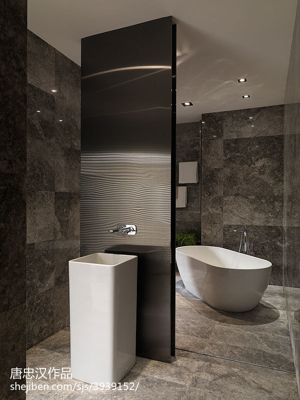 热门面积112平现代四居卫生间装修设计效果图片大全