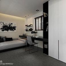 精选四居书房现代装修设计效果图片