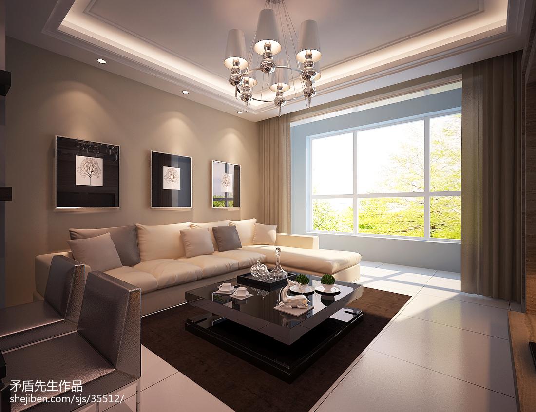 2018大小101平现代三居客厅效果图片